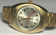 NOS 1970's Waltham Swiss Made Quartz Electrodyne Goldtone Watch