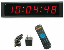 1�High 6 Digit Led Wall Clock, Countdown/up Digital Timer, Stopwatch