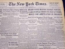 1946 FEB 26 NEW YORK TIMES NEWSPAPER - BOARD VOTES MAYOR TRANSIT POWERS - NT 49