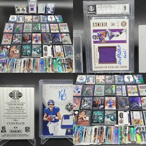 HUGE GRADED RPA 1/1 PATCH AUTO PRIZM JERSEY ROOKIE SP SPORTS CARD COLLECTION LOT