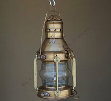 Antique Marine Ship Lantern Boat Light Anchor Lamp Cargo Ship Oil Kerosene Lamp