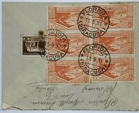 1931 FLORIDIA SYRACUSE ITALY COVER TO WINSTED CONNECTICUT