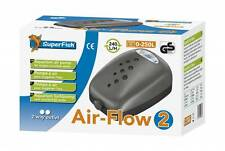 Superfish Air Flow 2 bilancio Pompa Acquario Fish Tank AIRPUMP 240L/H 2 uscite