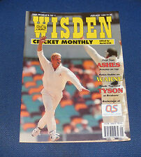 WISDEN CRICKET MONTHLY JANUARY 1995 - ASHES - FIRST TEST AUSSIES ON TOP