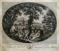 Stampa Antica Incisione originale francese 1786(XVIII) Galerie Le Duc D'Orleans