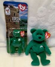 New In The Box Erin Happy Meal Beanie Not Sealed & TY Beanie Erin Bear