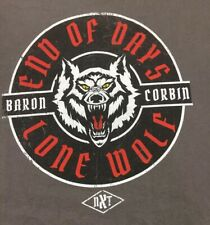 Baron Corbin T Shirt 5xl Nxt Authentic End Of Days Lone Wolf Wwe Gray Original