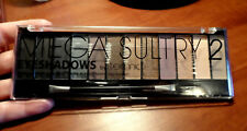 TECHNIC Mega Sultry 2 Matte& Metallic Sparkle Eyeshadow Palette 12 color variety