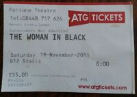 The Woman in Black Ticket Stub November 19, 2011 Fortune Theatre London England