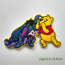 Winnie The Pooh And Eeyore Donkey Whisper Iron On Embroidered Patch Gift Kids