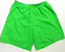 Nike Pro Womens Shorts Mesh Dri Fit Running Athletic Bright Green Sz L Large