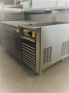 15/00226 Nordcap Unterbau-Tiefkühltisch Modell UT KT1200 Edelstahl 2 Vollauszüge