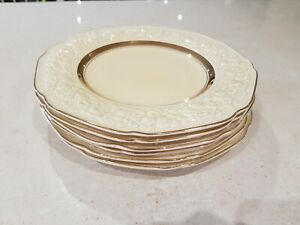 Crown Ducal Florentine Gold band 6x Side Plates