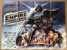 The Empire Strikes Back 1980 Original UK Quad Film Movie Poster STAR WARS