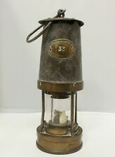 More details for patterson lamps gateshead-on-tyne newcastle brass miners lamp type b 7