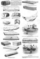 Shipwreck Equipment for the Preservation of Life-ANTIQUE PRINT 1851