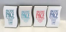 Stampin Up ANCIENT PAGE Archival Dye Ink Pads Stamp Lot of 4