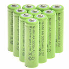 20 AA Rechargeable Batteries NiMH 3000mAh 1.2v Garden Solar  Light LED