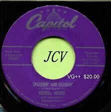 MERRILL MOORE (Snatchin' & Grabbin' / Sweet Jennie Lee ) COUNTRY 45 RPM RECORD