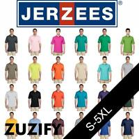 JERZEES SpotShield 50/50 Jersey Knit Polo Shirt. 437MSR