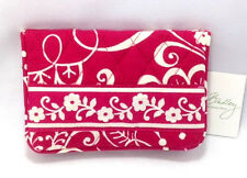 Vera Bradley Twirly Birds Pink One For The Money Wallet New Bifold Coin NWT