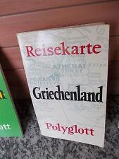 Reisekarte Griechenland, aus dem Polyglott Verlag