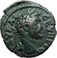 SEPTIMIUS SEVERUS 193AD Nicopolis ad Istrum Ancient Roman Coin w TYCHE i66154