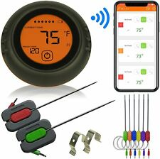 Wireless Meat Thermometer for Grilling, 6 Probes, Digital Cooking BBQ Bluetooth