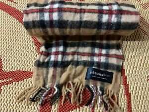JOHNSTONS OF ELGIN 100% LAMBSWOOL SCARF MADE IN SCOTLAND ONE SIZE ORIGINAL
