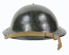 Casque Anglais de la défénse passive camouflé ! Anglais WW2 (matériel original)