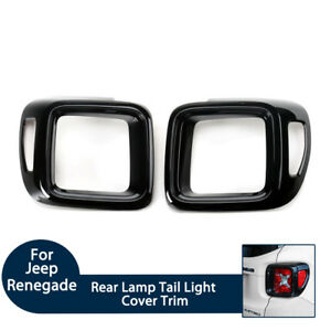 Car Styling Black Rear Lamp Tail Light Cover Trim for Jeep Renegade 2015-2017