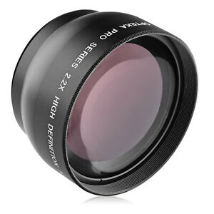 Opteka 49mm 2.2x High Definition AF Telephoto Lens for Sony E 35mm f/1.8 OSS