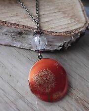 Vintage retro photo,medaillon pusteblume,dandelion art deco elfe romantik kette