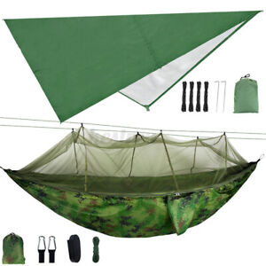 Double Person Camping Hammock With Mosquito Net + Waterproof Awning Rain