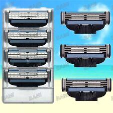 4 Blades For Gillette MACH 3 Razor Shaving Shaver Trimmer Refills Cartridges HOT