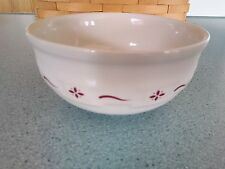 Longaberger Pottery small Low Bowl Traditional red Woven Traditions NEW in box
