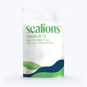 Vitamin B12 Tablets High Strength 10ug/400iu Immunity Support 365 Tabs Sealions