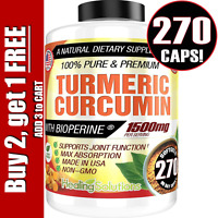 Turmeric Curcumin 1500 mg Ultra High Absorption Extra Strength 270 Capsules