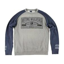 2016 NWT MENS METAL MULISHA STAMP CREW FLEECE SWEATER $48 L navy heather