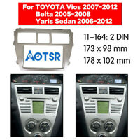 2 Din Car Radio Fascia Stereo DVD Panel Frame for TOYOTA VIOS/Belta/Yaris Sedan