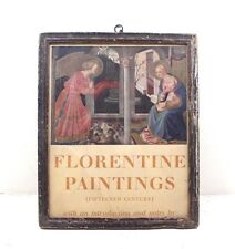 Vintage Beautiful FLORENTINE PAINTINGS Litho Print with Old Frame