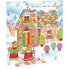 Navidad Pan de Jengibre Dulce Casa Candy vacaciones Hansel Gretel Vinilo Scene Setter