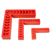 New 90°Right Angle Plastic L Shape Square Clamp Measure Ruler Positioner Gauge
