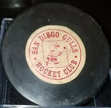 Vintage 1968-69 San Diego Gulls Art Ross Converse Game Puck WHL PAT. 2226516