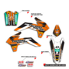 2015-2017 KTM SX 85 SX 105 GRAPHICS FACTORY RACING : ORANGE / BLACK DECALS KIT