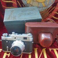 Soviet USSR FED3 35mm camera Leica copy Industar-26 lens M39 mount1960s! KIT!