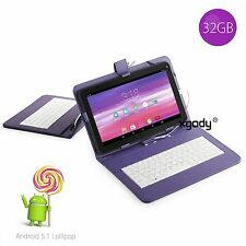 """32GB 10.1"""" Google Android 5.1 A33 4Core Dual Camera Tablet PC Bundled Keyboard"""