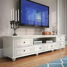 Beata 2m American country Hampton style white TV stand/ entertainment unit