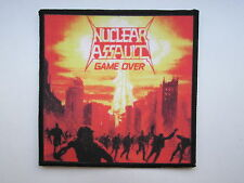 NUCLEAR ASSAULT Game Over printed NEW patch thrash metal