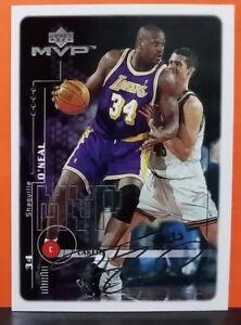 Shaquille O'Neal insert card Silver Script 1999-00 Upper Deck MVP #75